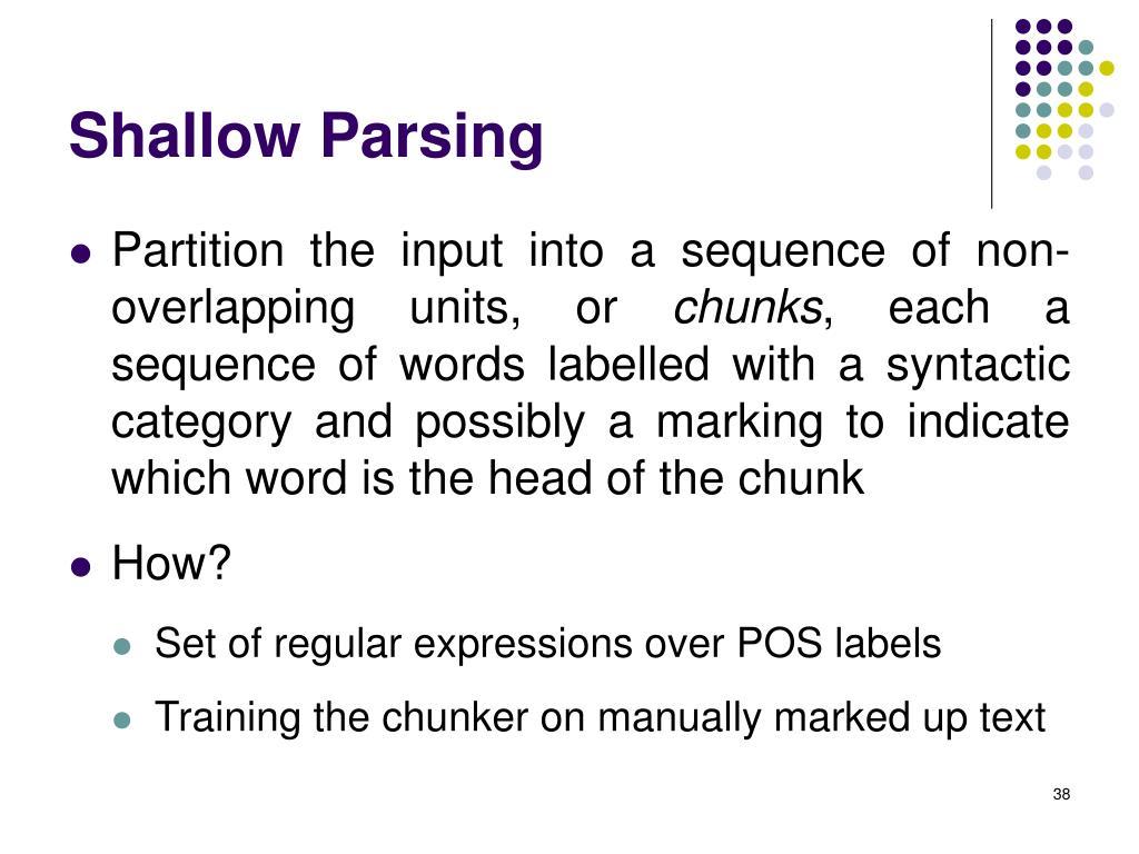 Shallow Parsing