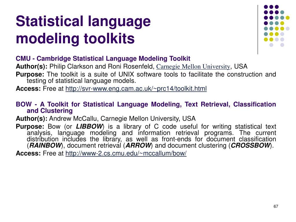 Statistical language