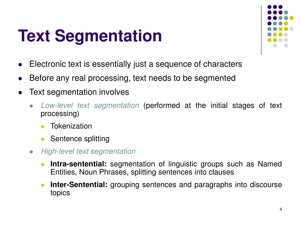Text Segmentation