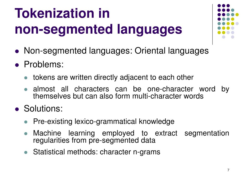 Tokenization in