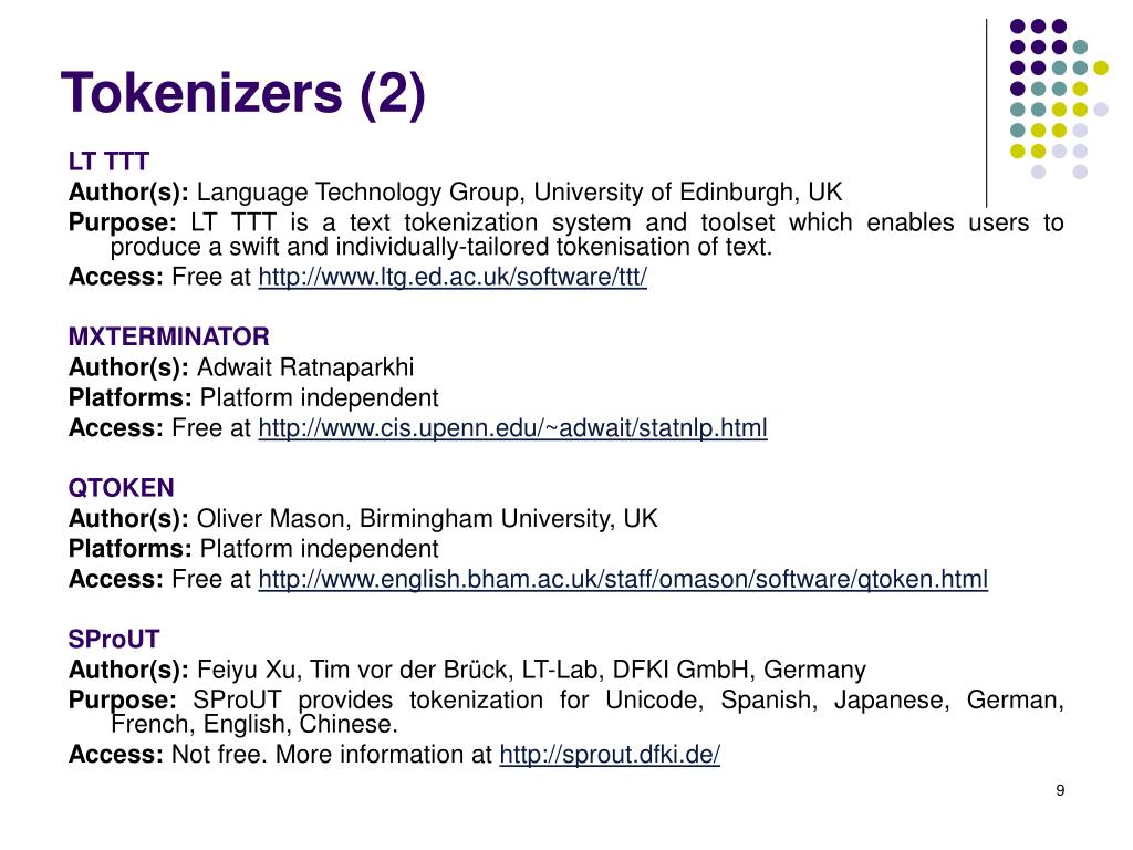 Tokenizers (2)