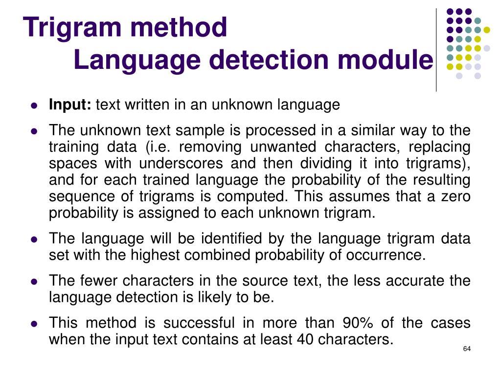 Trigram method