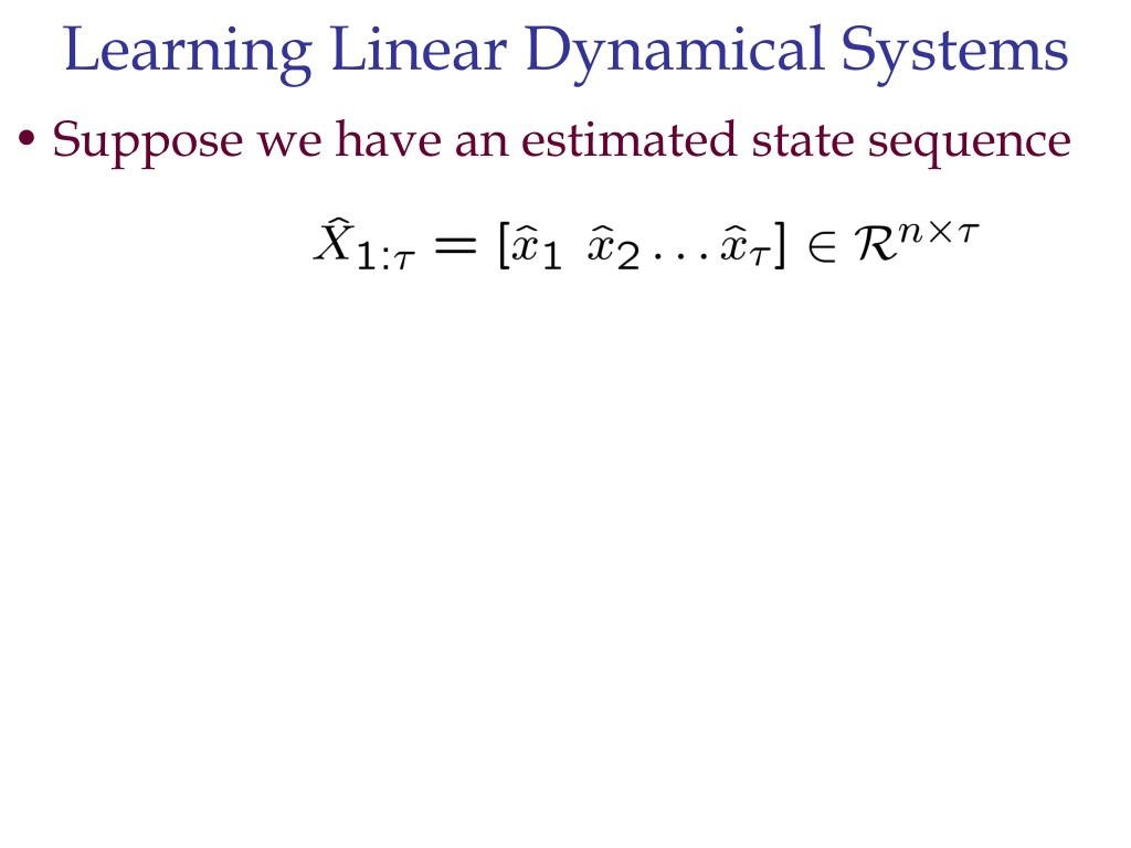 Learning Linear Dynamical Systems
