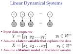 linear dynamical systems8