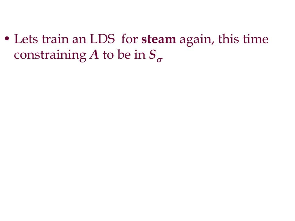 Lets train an LDS  for