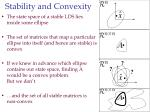 stability and convexity62