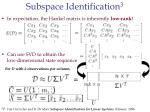 subspace identification 323