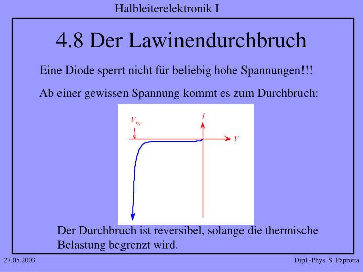 4.8 Der Lawinendurchbruch