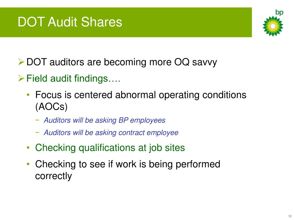 DOT Audit Shares
