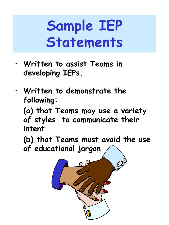 Sample IEP Statements