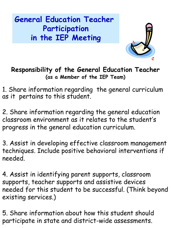 General Education Teacher