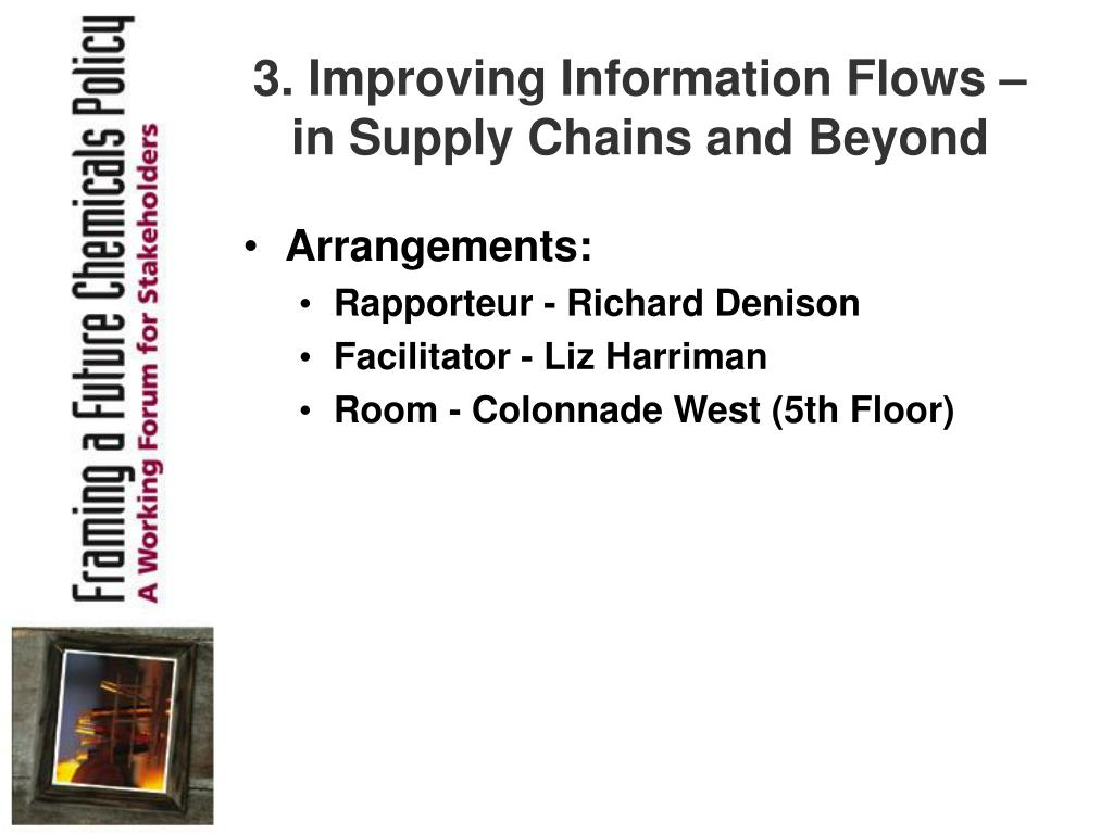 3. Improving Information Flows – in Supply Chains and Beyond