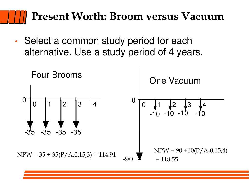 Present Worth: Broom versus Vacuum