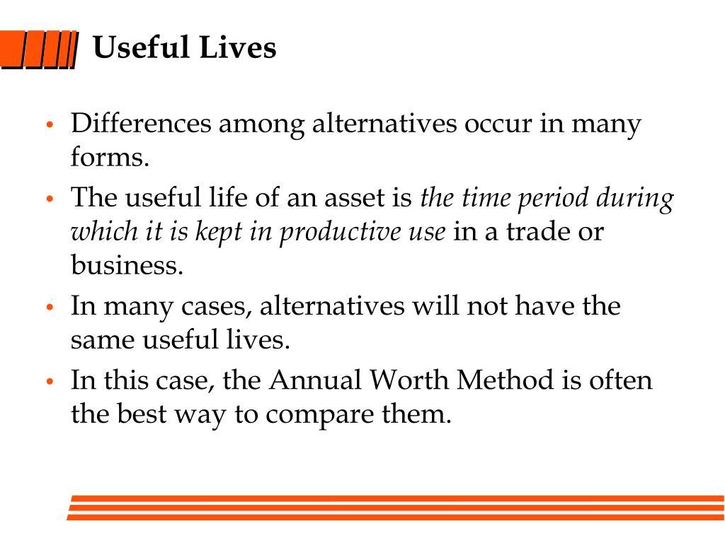 Useful Lives