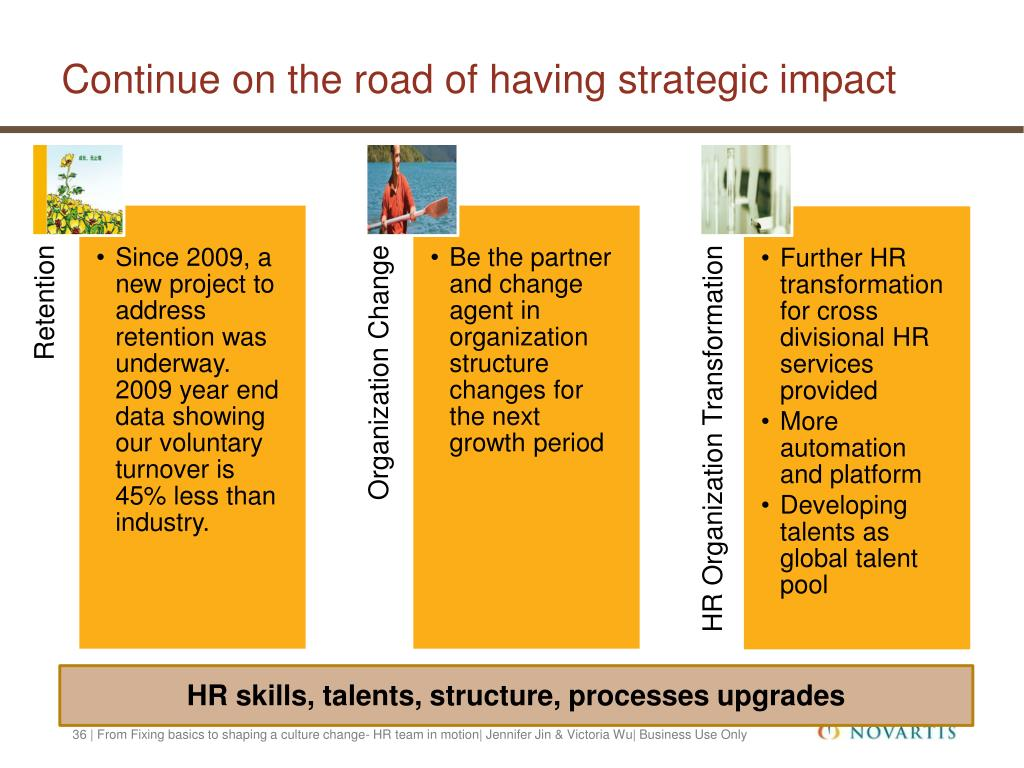 Continue on the road of having strategic impact
