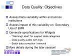 data quality objectives