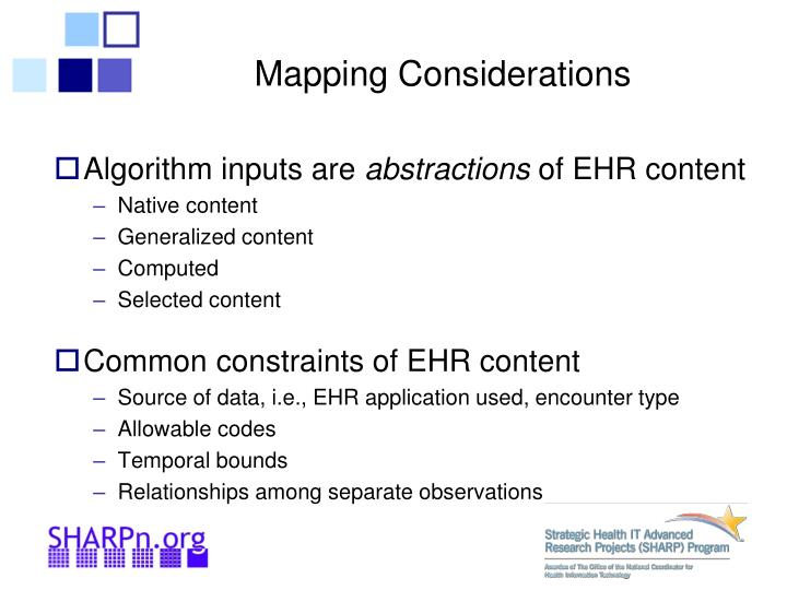 Mapping Considerations