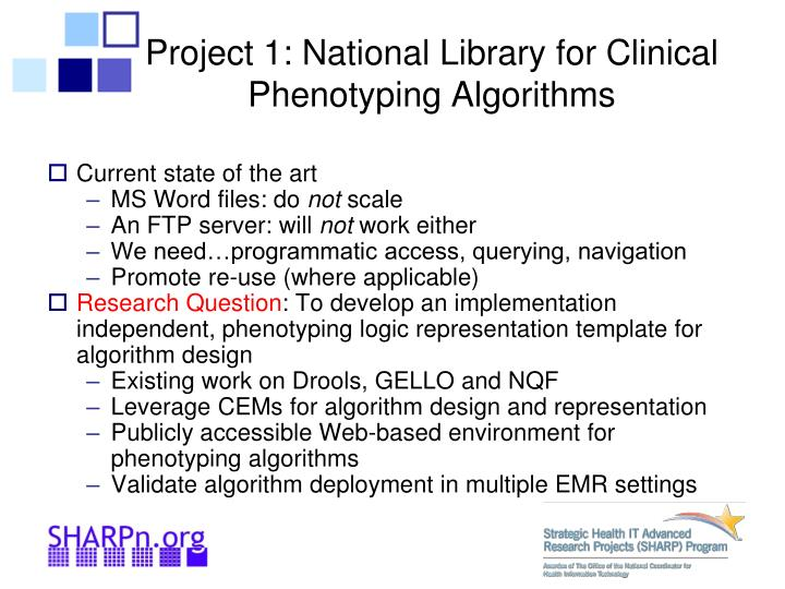 Project 1: National Library for Clinical