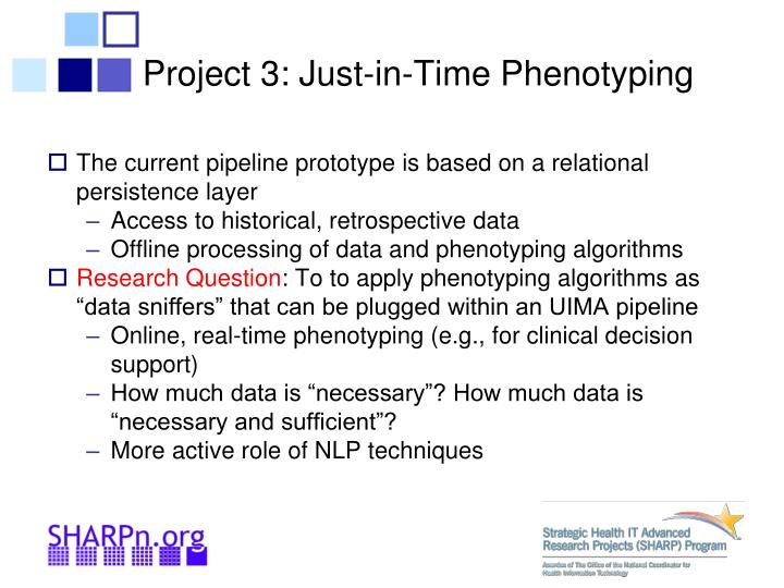 Project 3: Just-in-Time Phenotyping
