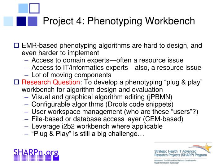 Project 4: Phenotyping Workbench