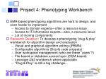 project 4 phenotyping workbench