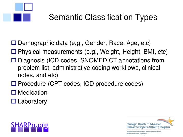 Semantic Classification Types