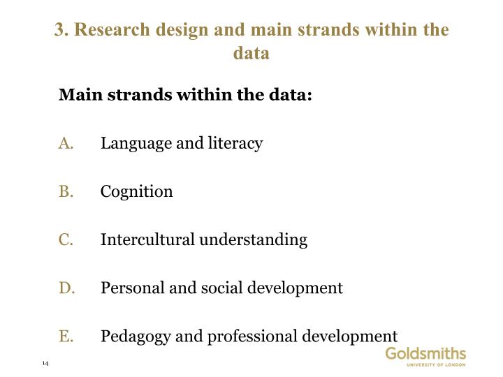 Main strands within the data:
