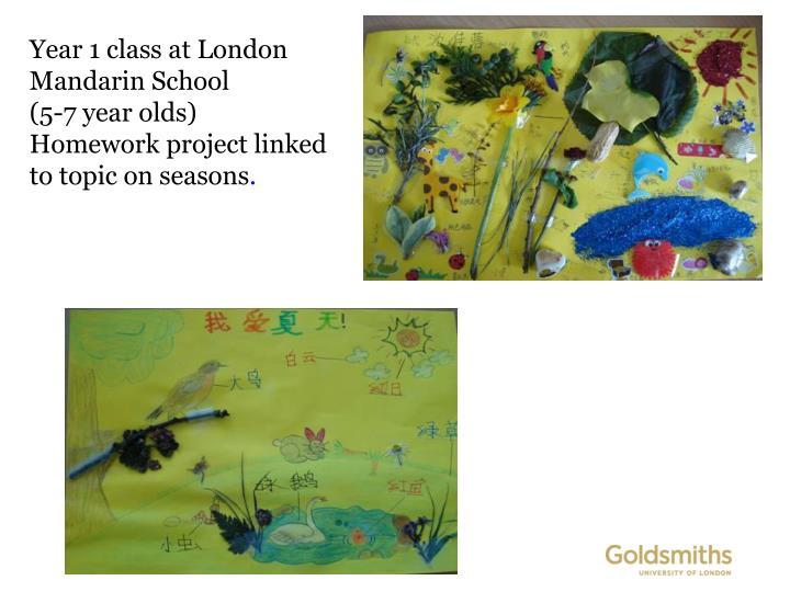 Year 1 class at London Mandarin School