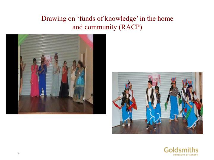 Drawing on 'funds of knowledge' in the home