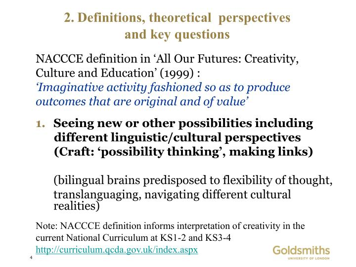 Definitions, theoretical  perspectives
