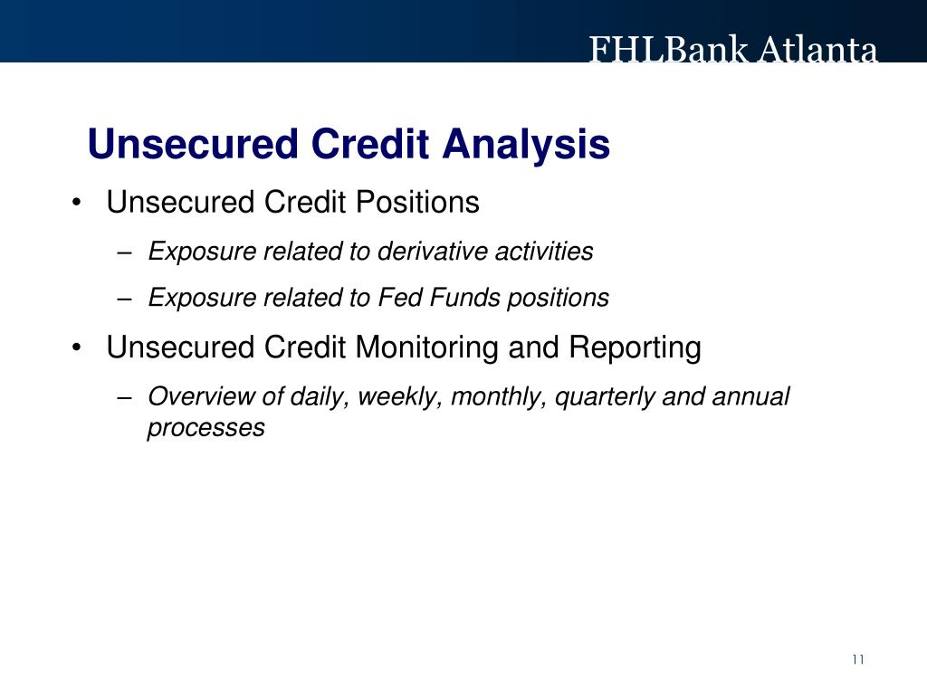 Unsecured Credit Analysis