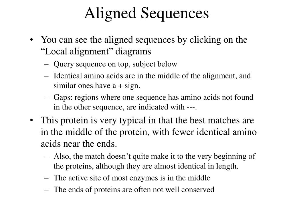 Aligned Sequences