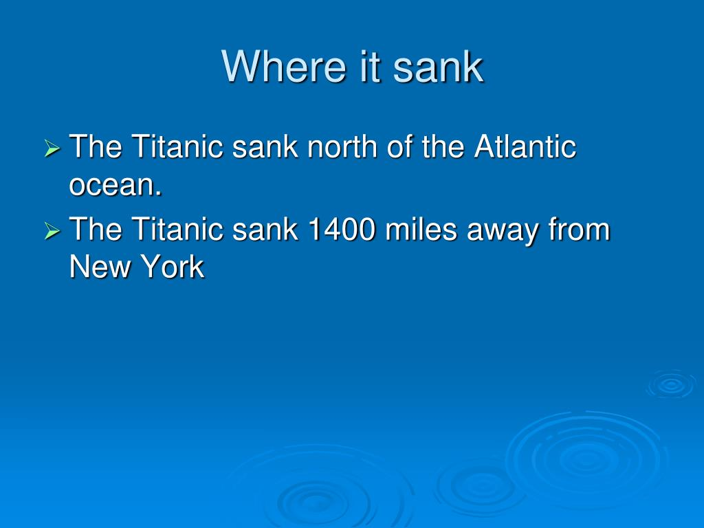 Where it sank