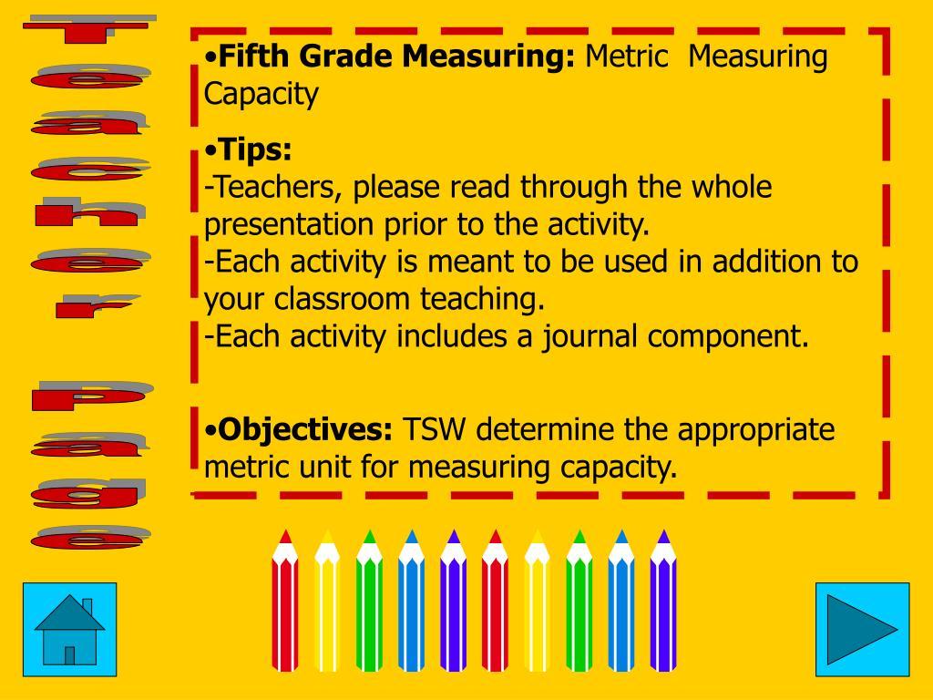 Fifth Grade Measuring: