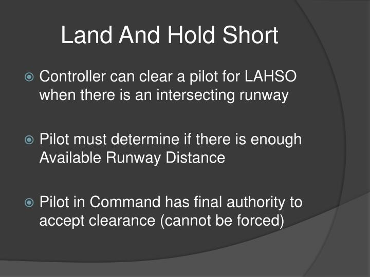 Land And Hold Short