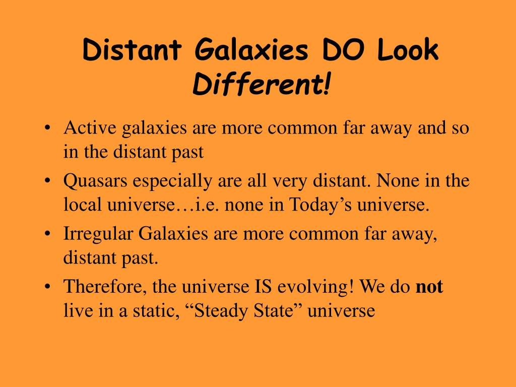 Distant Galaxies DO Look