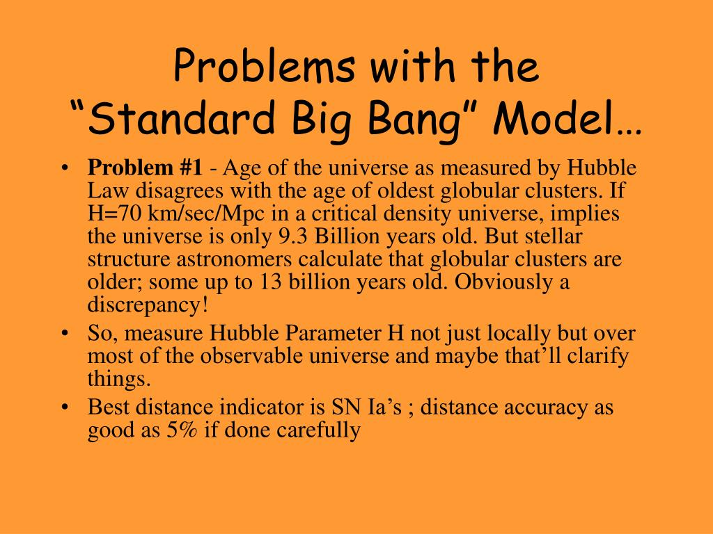 "Problems with the  ""Standard Big Bang"" Model…"