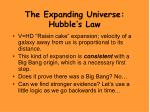 the expanding universe hubble s law