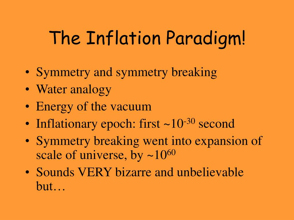 The Inflation Paradigm!