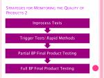 strategies for monitoring the quality of products 2
