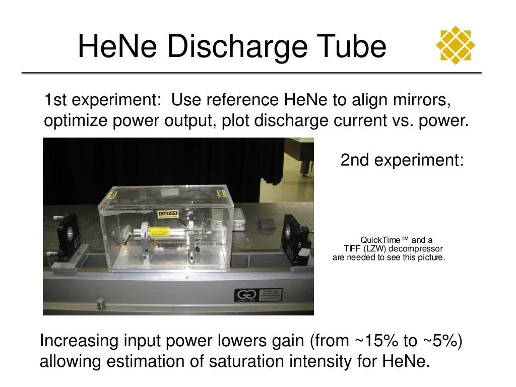 HeNe Discharge Tube