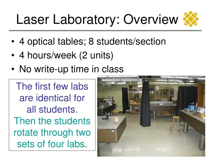 Laser laboratory overview