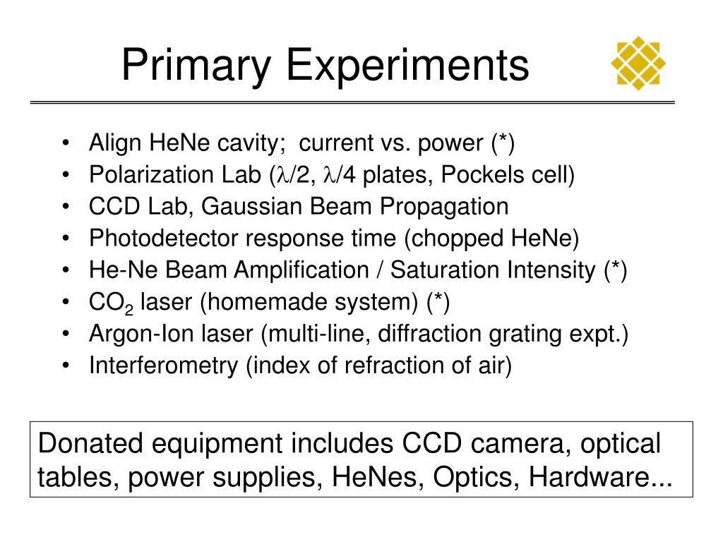 Primary Experiments