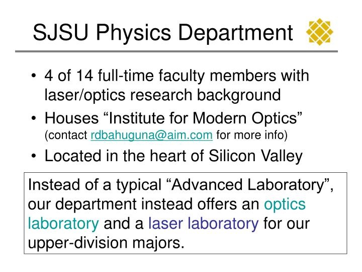 Sjsu physics department