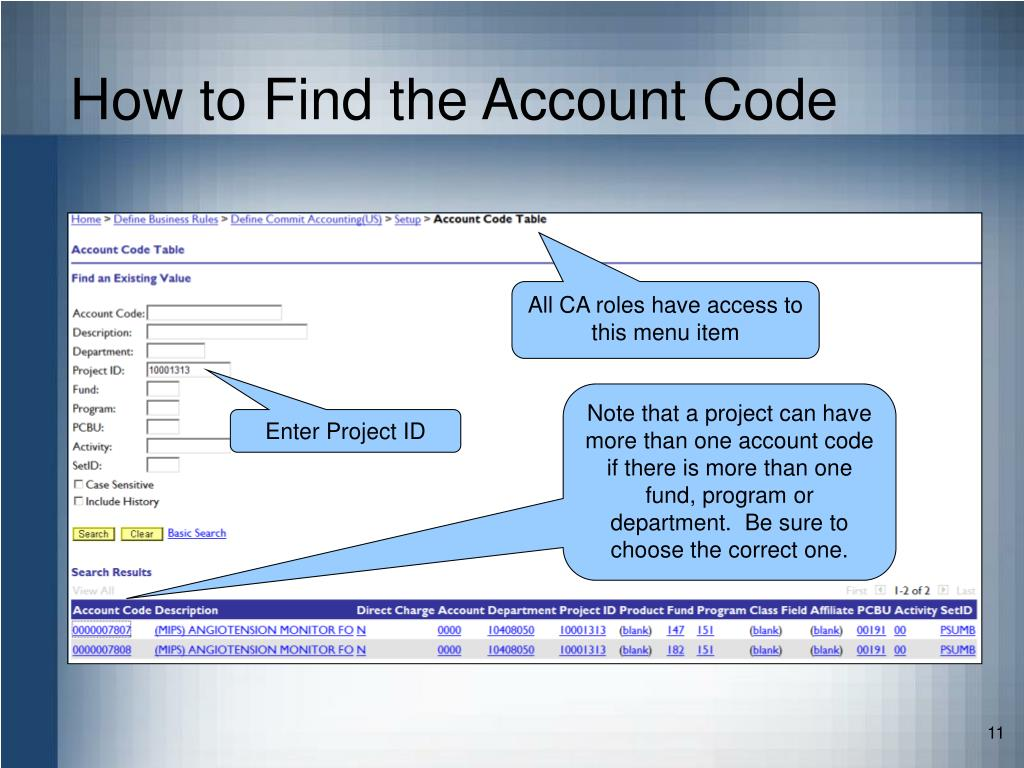 How to Find the Account Code