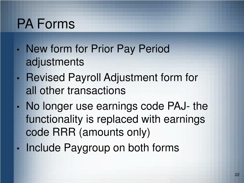 PA Forms