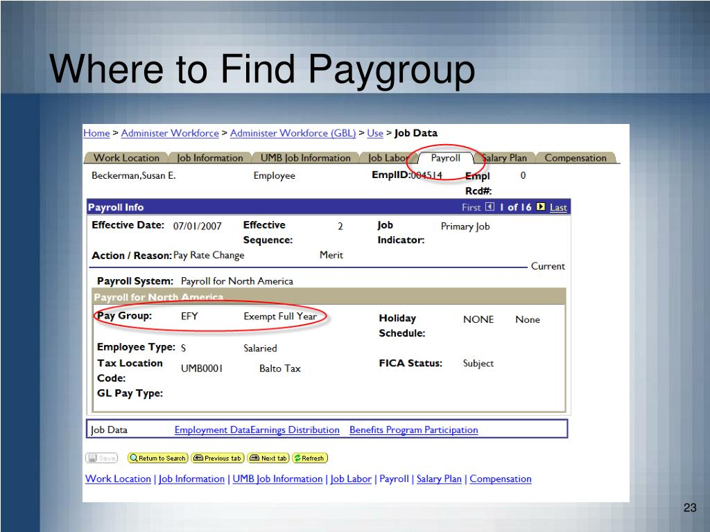 Where to Find Paygroup