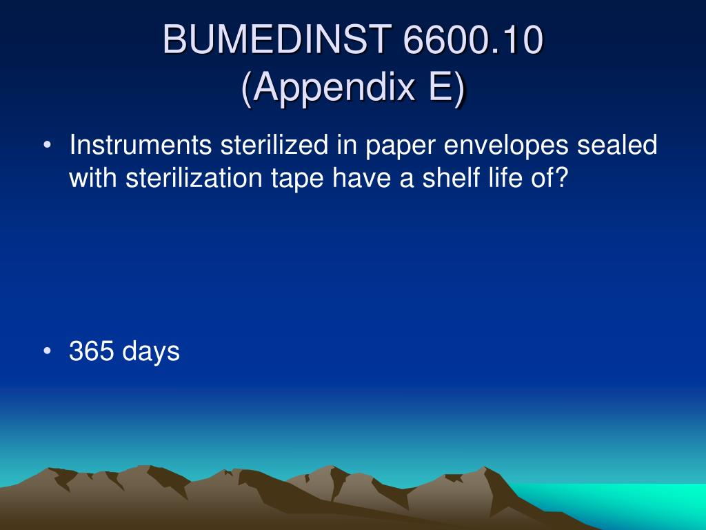 Instruments sterilized in paper envelopes sealed with sterilization tape have a shelf life of?
