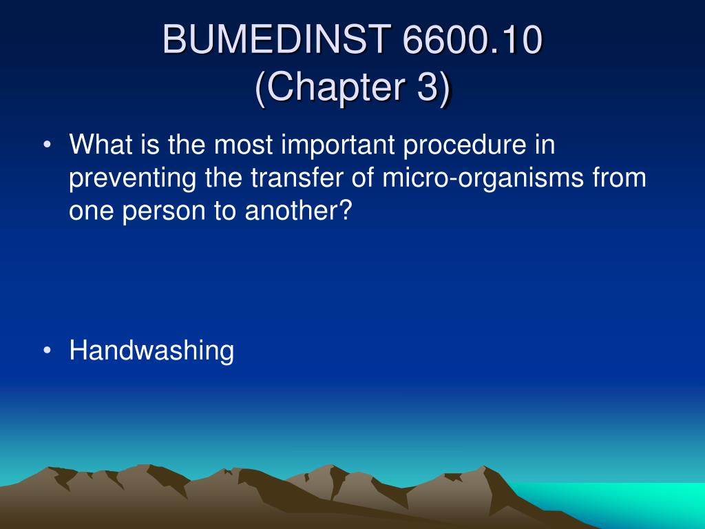 What is the most important procedure in preventing the transfer of micro-organisms from one person to another?