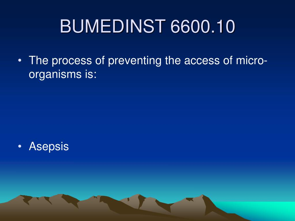 The process of preventing the access of micro-organisms is: